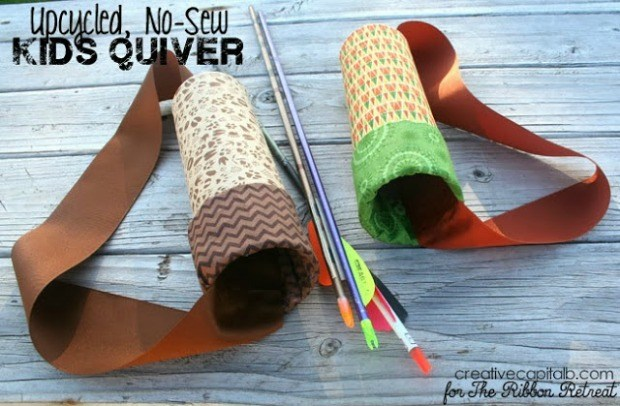 Upcycled, No Sew Kids Quiver - The Ribbon Retreat Blog