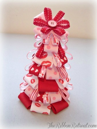Valentine's Day Ribbon Tree - {The Ribbon Retreat Blog}