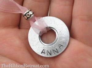 Washer Necklace - {The Ribbon Retreat Blog}