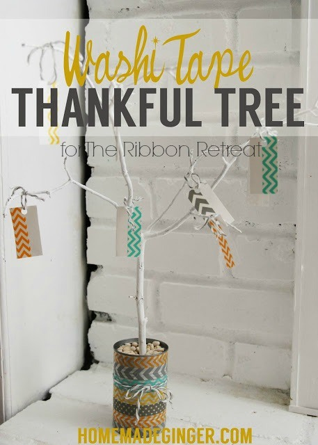 Washi Tape Thankful Tree - The Ribbon Retreat Blog
