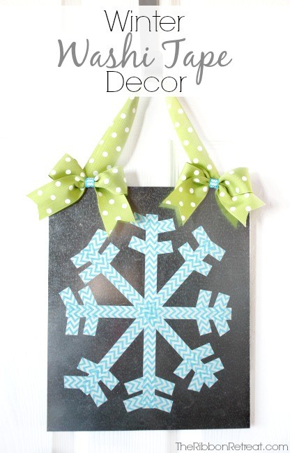 Winter Washi Tape Decor - The Ribbon Retreat Blog
