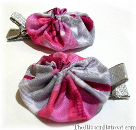 Yo Yo Hair Clip - {The Ribbon Retreat Blog}