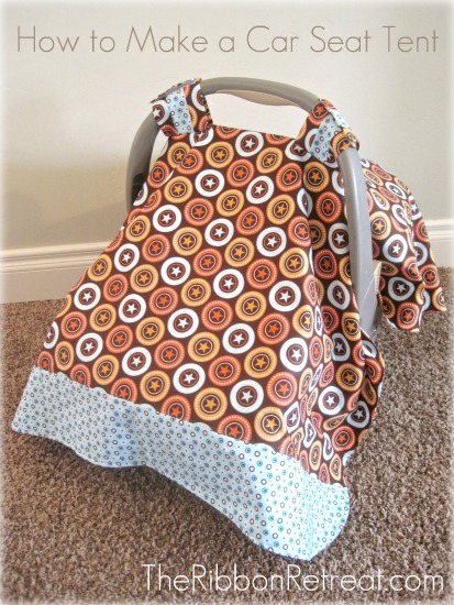 Car seat tents (or covers) werenu0027t very popular when I had my first little guy. & How To Make A Car Seat Tent - The Ribbon Retreat Blog