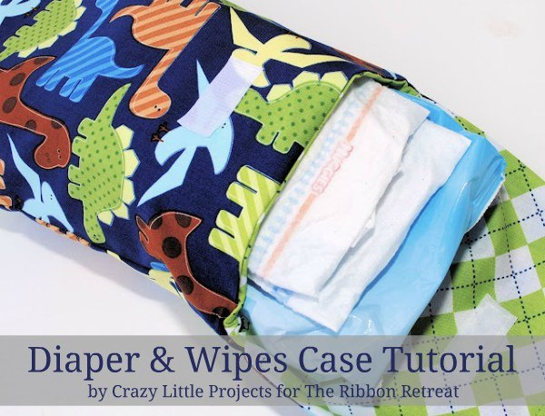Learn how to make a cute diaper and wipes case
