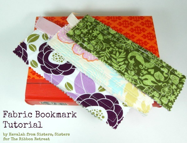 Fabric Bookmark Tutorial - Perfect gifts for the readers in your life! {The Ribbon Retreat Blog}