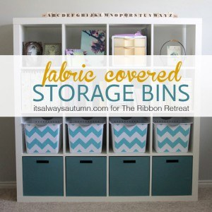 Fabric Covered Stools - The Ribbon Retreat Blog