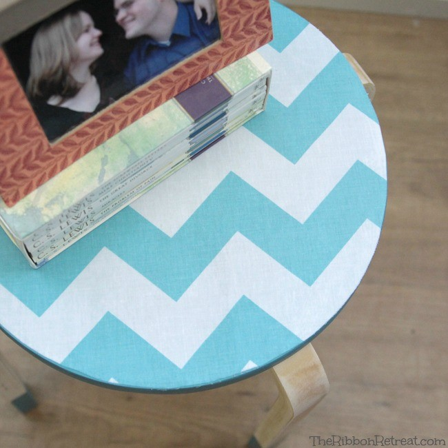 Fabric Topped Stools - The Ribbon Retreat Blog