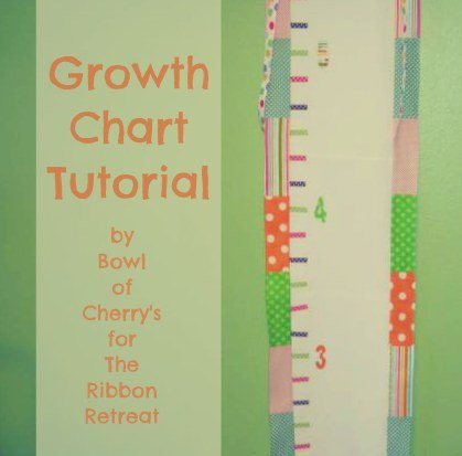 Growth Chart Tutorial with Fabric and Ribbon