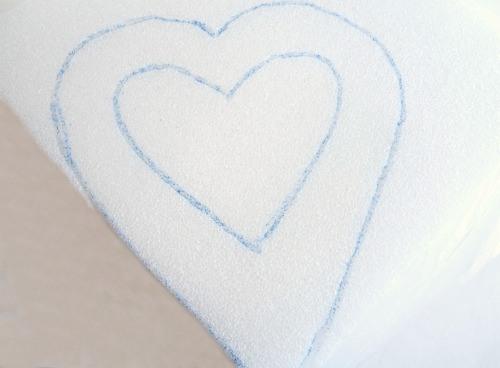 Heart Shaped Button Wreath Tutorial - The Ribbon Retreat Blog