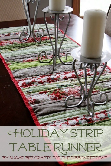 Christmas Table Runner Diy.Holiday Table Runner The Ribbon Retreat Blog