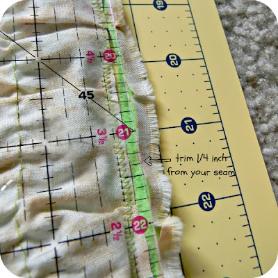 Cut off excess minky fabric.