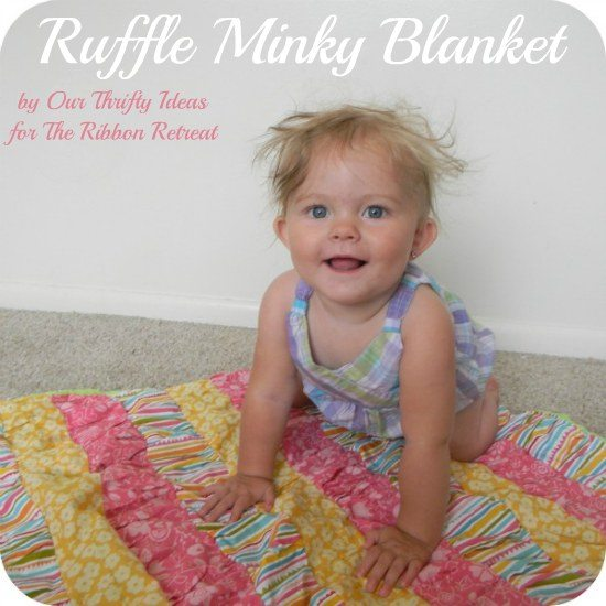 Super soft ruffle blanket ready to cuddle!