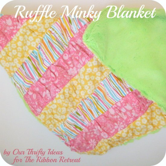 Learn how to make a cute ruffled minky blanket for baby