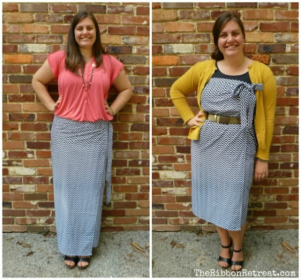 This wrap skirt is easy to make and doubles as a dress!