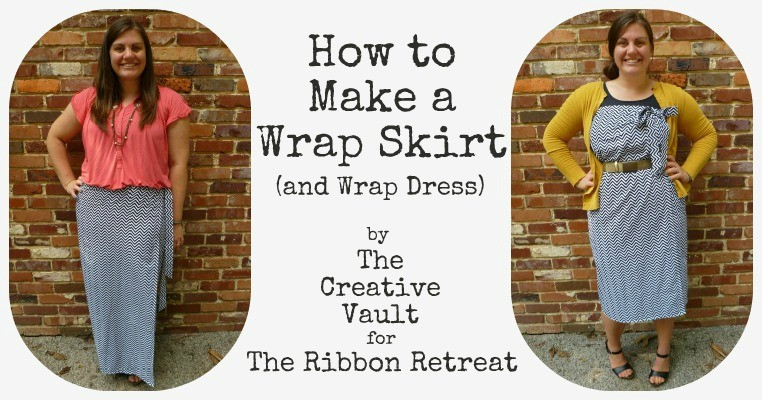 Spruce up your wardrobe with a little fabric and make a wrap skirt that doubles as a dress! Cute fabric and simple sewing skills are all that's necessary!