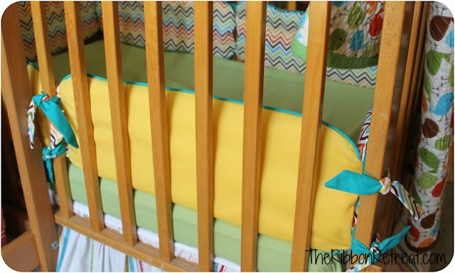 How to Make Crib Bumpers - {The Ribbon Retreat Blog}
