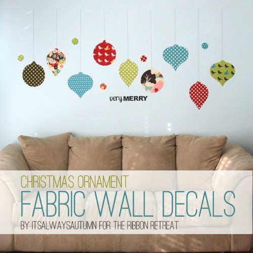 How To Make Fabric Wall Decals   Three Different Ways To Make Fabric Decals  And The