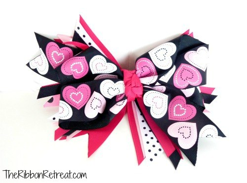 """Key To My Heart"" Twisted Boutique Bow Tutorial {The Ribbon Retreat Blog}"