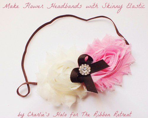 Learn how to make headbands using skinny elastic and embellishing with cute flowers and bows.