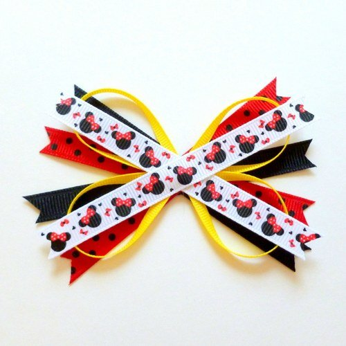 secure last X on butterfly ribbon with glue