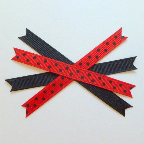 layer two of your ribbon x's