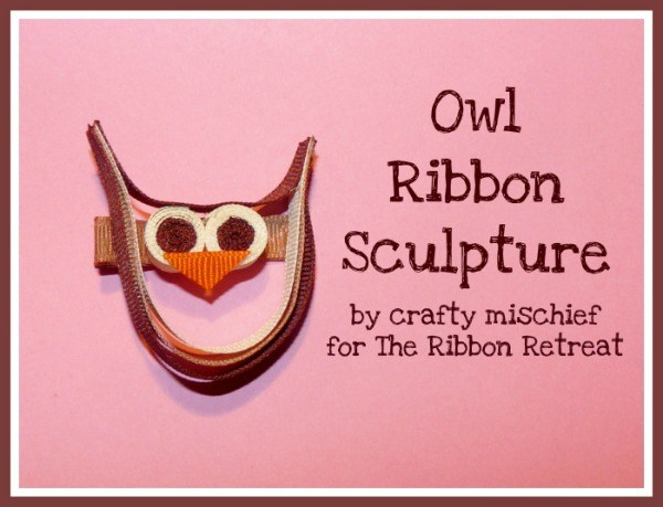 Owl Ribbon Sculpture Tutorial - So cute and easy!! {The Ribbon Retreat Blog}