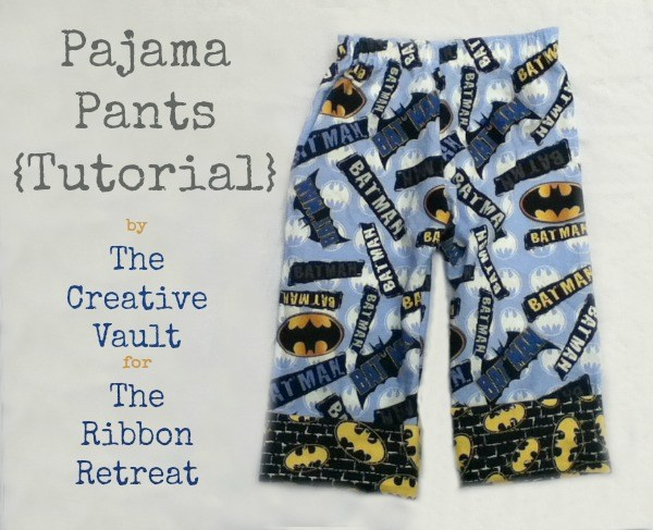 Learn how to make super easy and too cute pajama pants!