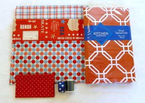 picnic blanket tutorial supplies