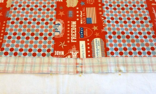 pin and sew the edge onto the main fabric
