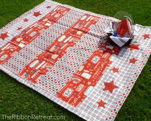 4th of july picnic blanket tutorial