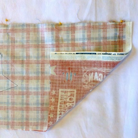 place strips right sides together and sew