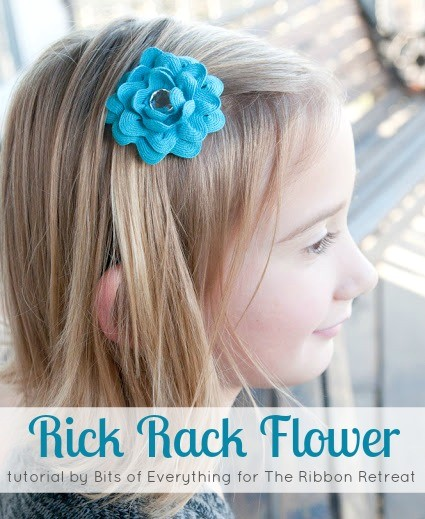 Rick Rack Flower Tutorial - Beautiful handmade flowers using Rick Rack! So cute and easy! {The Ribbon Retreat Blog}