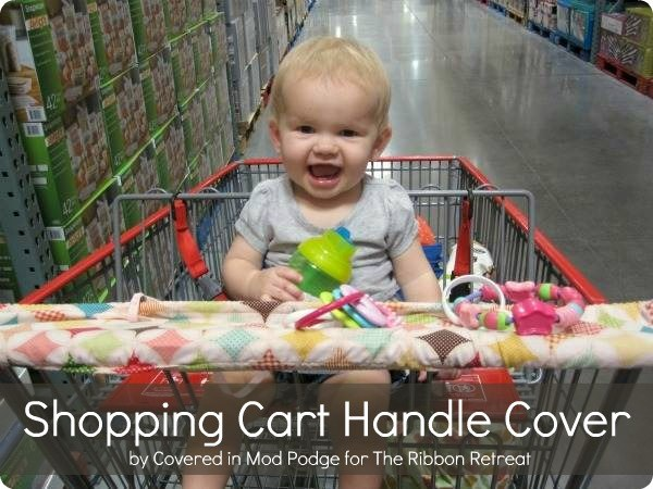 Learn how to make a fun shopping cart handle cover to keep kids clean.