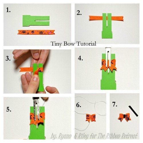 Tiny Bow Tutorial - {The Ribbon Retreat Blog}