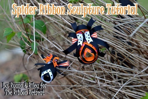 Spider Ribbon Sculpture Tutorial {The Ribbon Retreat Blog}