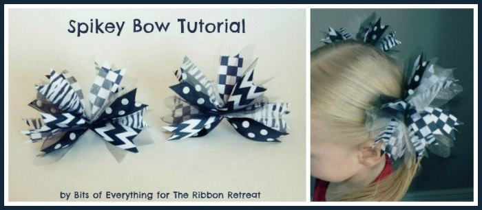 Spikey Bow Tutorial - Super easy and cute to match any outfit or holiday! {The Ribbon Retreat Blog}
