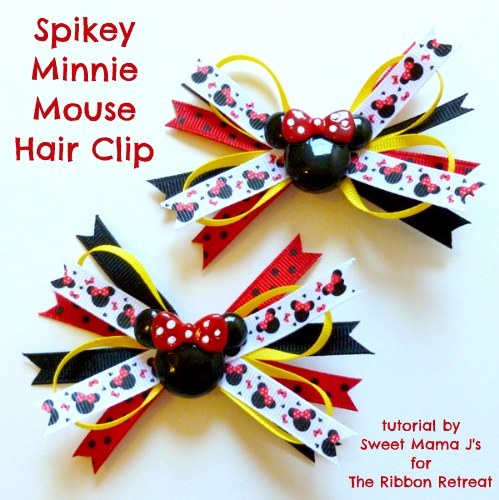Learn how to make a spikey minnie mouse hair clip!