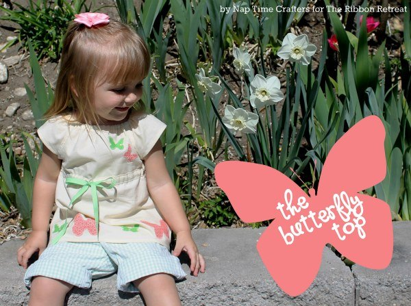 Learn how to make the butterfly top, a cute summer shirt