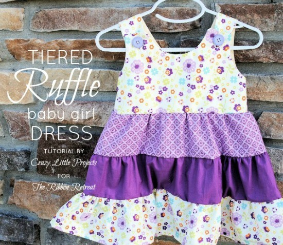 tiered ruffle baby girl dress tutorial the ribbon