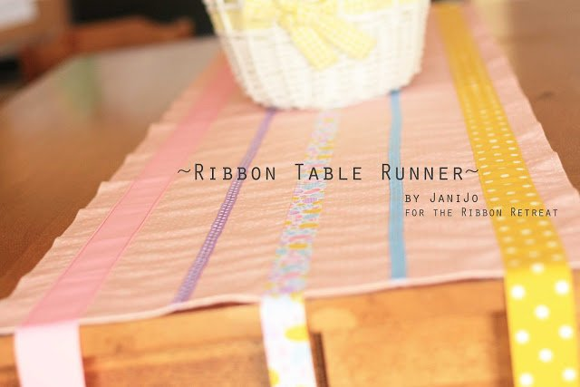 Ribbon Table Runner - The Ribbon Retreat Blog