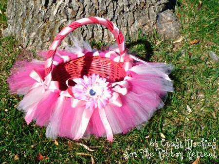 Completed Tutu Easter Basket