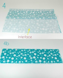 Fold your pocket piece and insert interfacing.