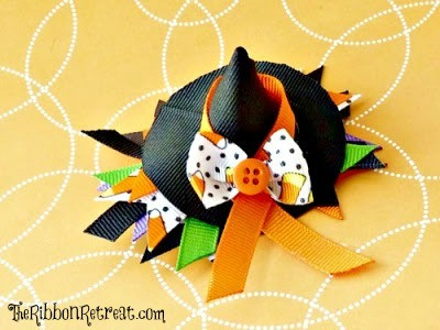 Witch Hat Ribbon Sculpture Tutorial - so easy! {The Ribbon Retreat Blog}
