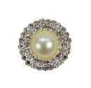 Product Image - Beautiful pearl center surrounded with two rows...