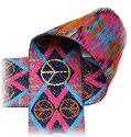 Peace Sign-Navy/Orange/Pink--- 1 Yard