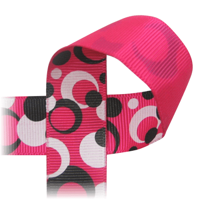 Printed Ribbon Retro Eclipse Dots 7 8 Quot Dotted Dot