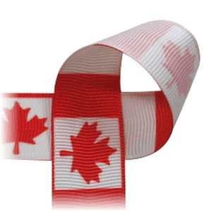 Canadian Flag Printed Ribbon 7 8 Quot Width