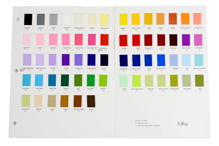 Offray Grosgrain Color Chart