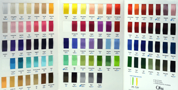 Offray Satin Color Chart Single Face And Double Face