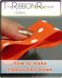 How to Make Ribbon Hair Bows
